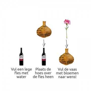 Bottle vase rond